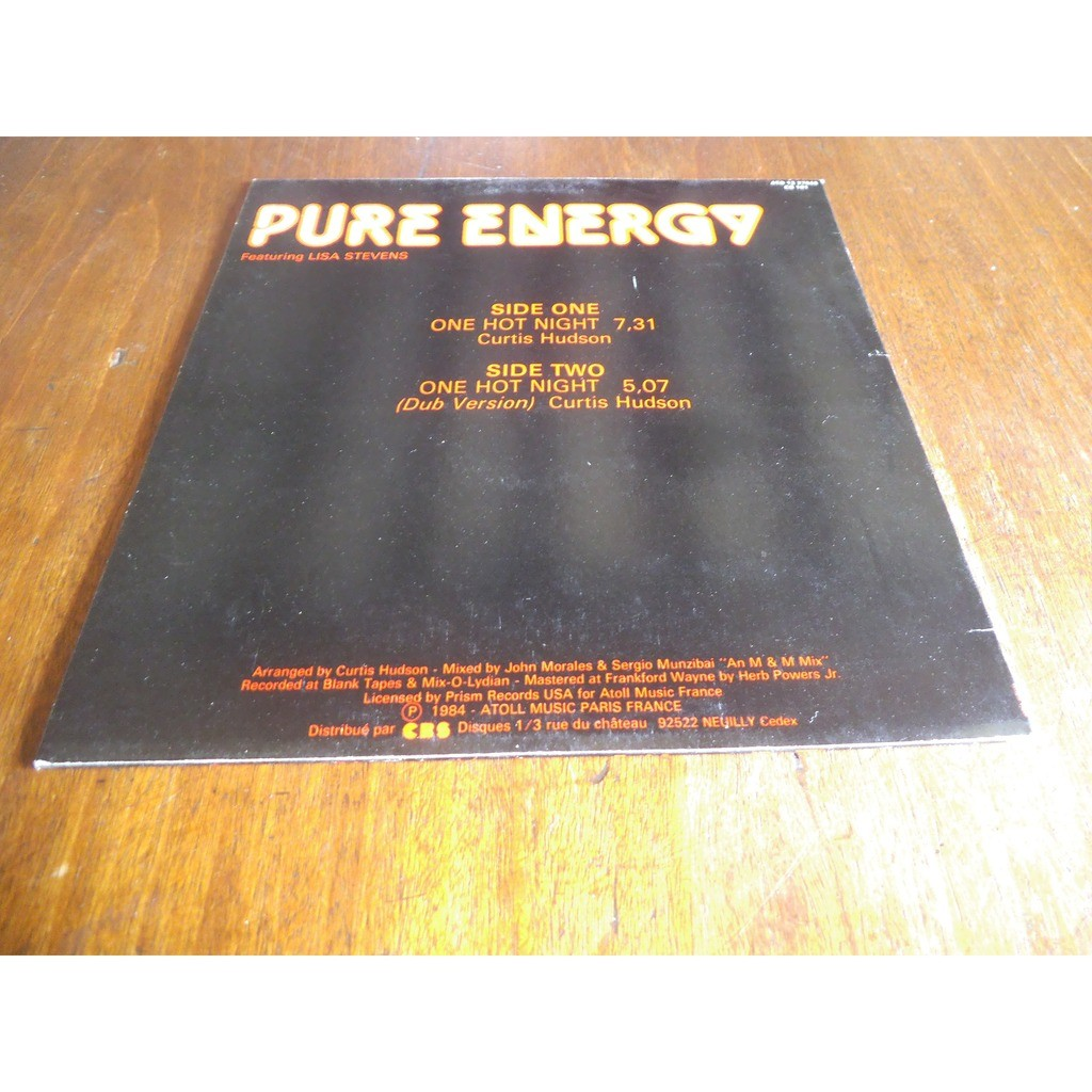 pure energy feat lisa stevens ONE HOT NIGHT
