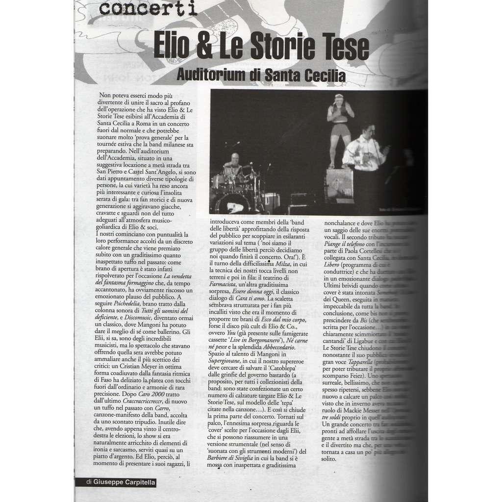 Elio E LeStorie tese RARO! (N.124 July/Aug. 2001) (Italian 2001 collector's music magazine!!)