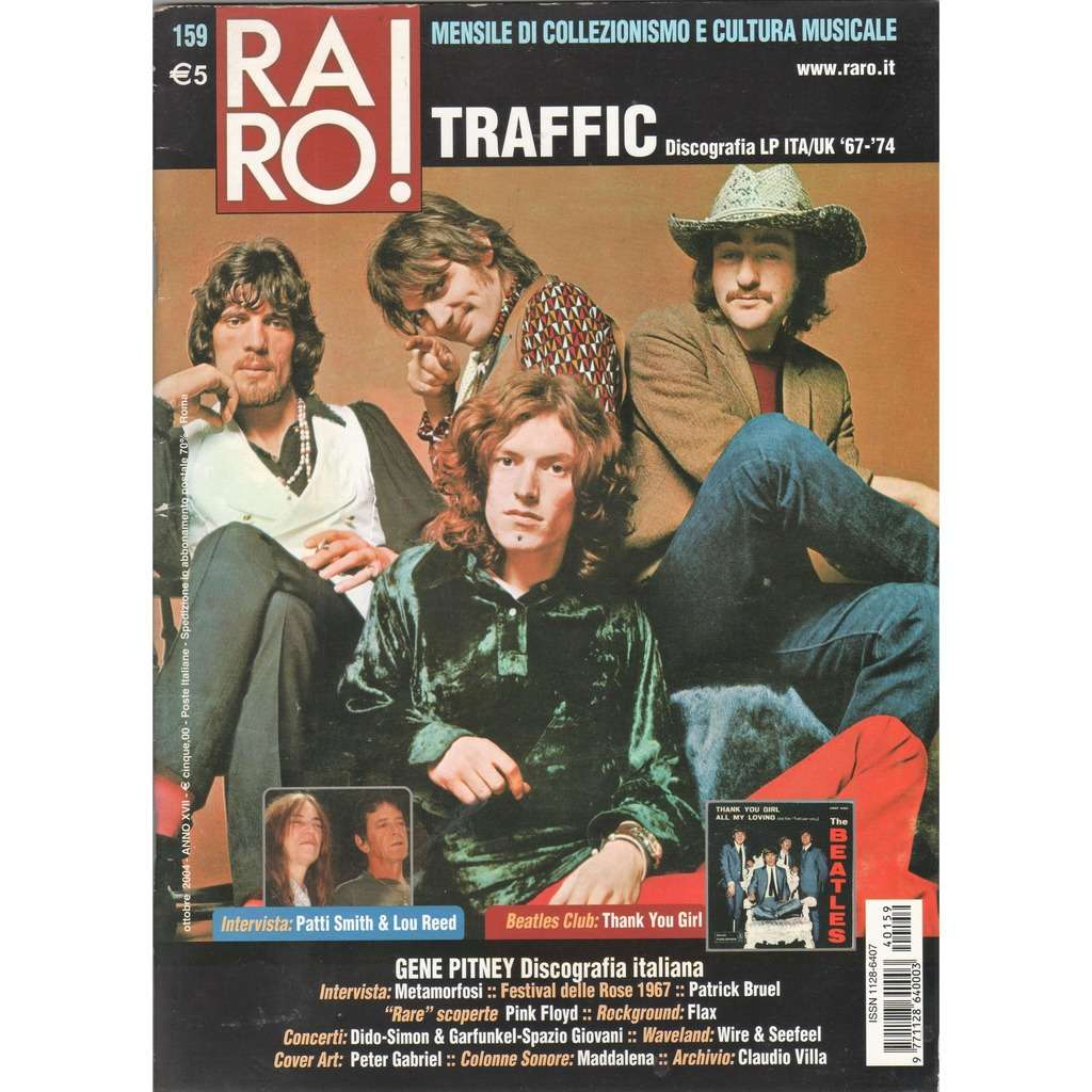 Traffic RARO! (N.159 Oct. 2004) (Italian 2004 Traffic front cover collector's magazine!)