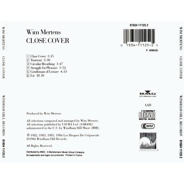 Wim Mertens Close Cover
