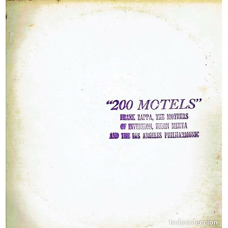 Frank ZAPPA / Mothers of Invention: 200 Motels (USA 70s original live LP CLEAR wax on TMOQ lbl stamped ps)