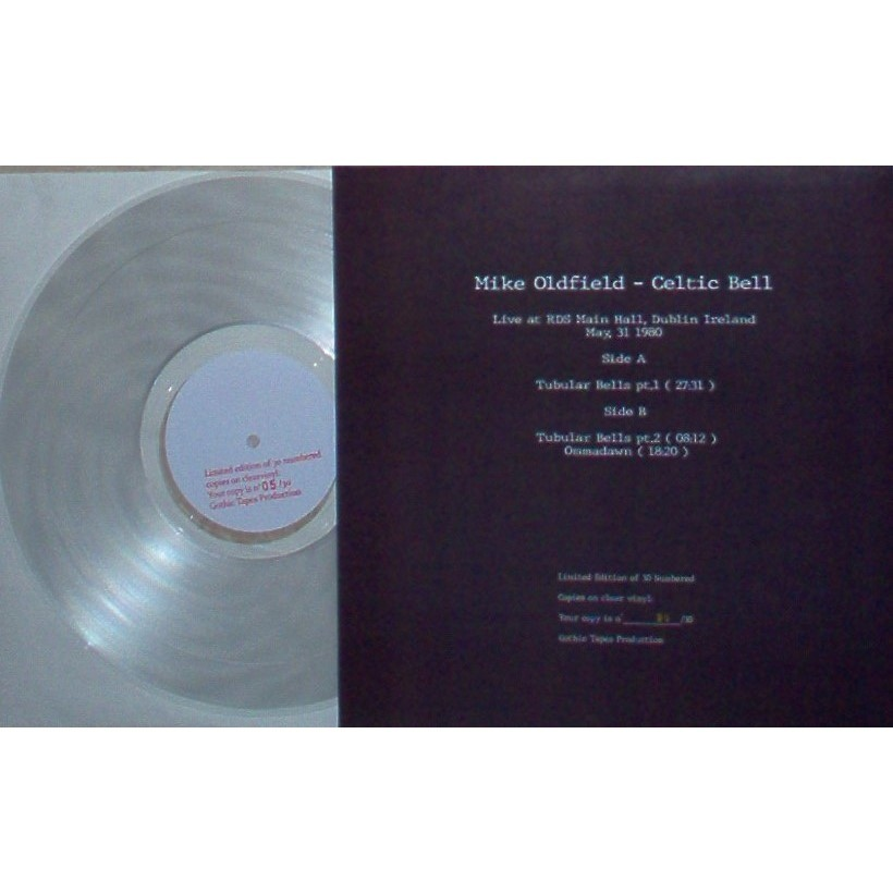Mike Oldfield Celtic Bell (RDS Main Hall Dublin Ireland 31.05.1980) (Ltd 30 No'd copies LP CLEAR WAX)