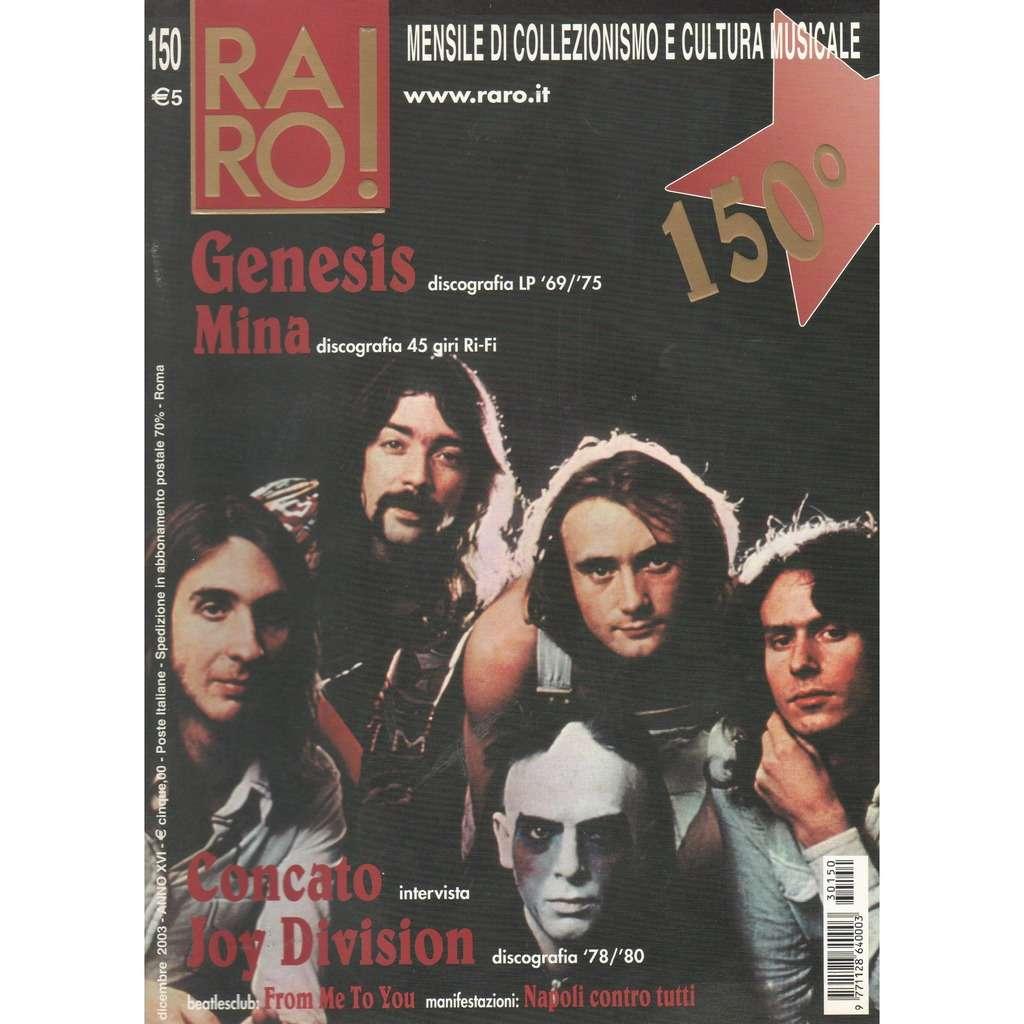 Genesis RARO! (N.150 Dec. 2003) (Italian 2003 Genesis front cover collector's magazine!!)