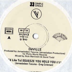DEVILLE ( i'd like to ) squeeze you hold you 2 versions ( tirage limité )