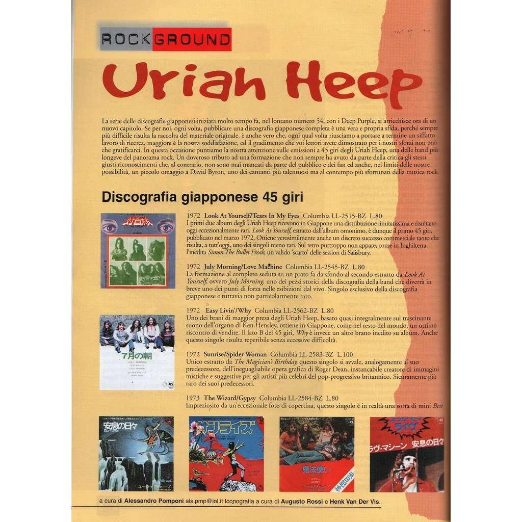 Uriah Heep RARO! (N.111 May 2000) (Italian 2000 music collector's magazine!)