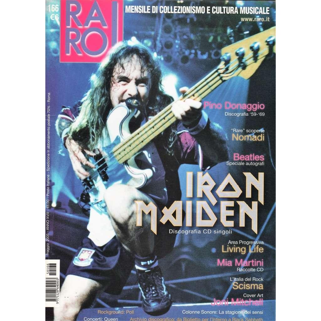 Iron Maiden RARO! (N.166 May 2005) (Italian 2005 Iron maiden front cover collector's magazine!!)