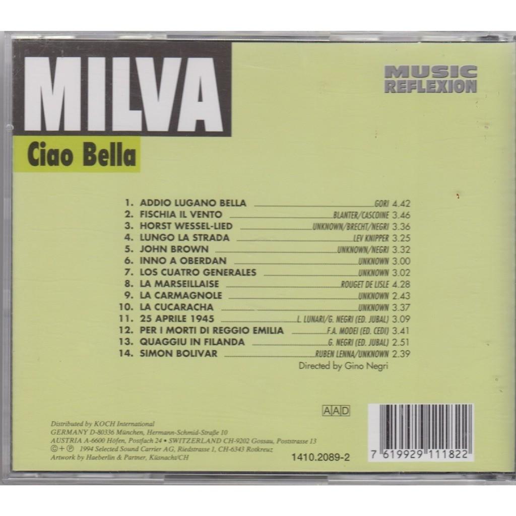 MILVA Ciao Bella CD NEW