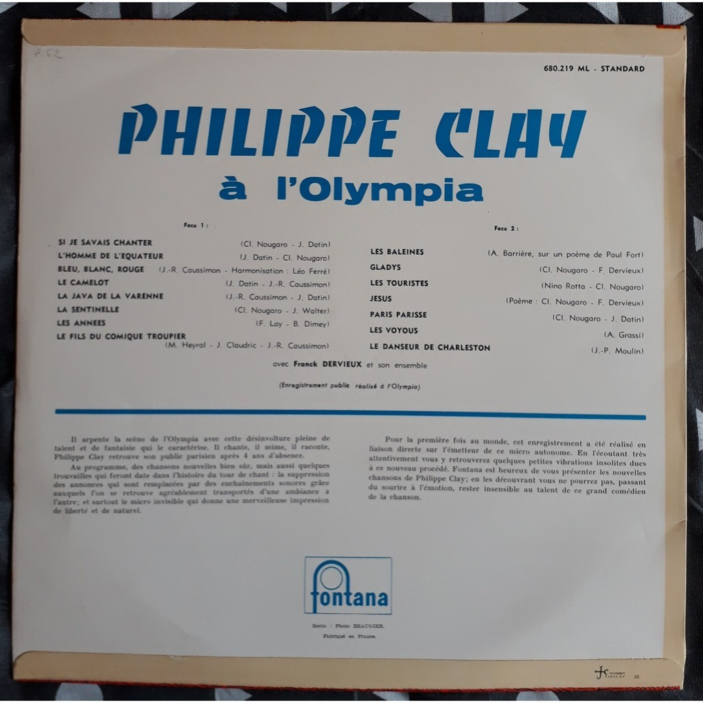philippe clay a l'olympia