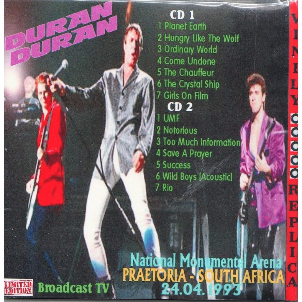 Duran Duran Live At 'National Monumental Arena' (Pretoria South Africa 24.04.1993)