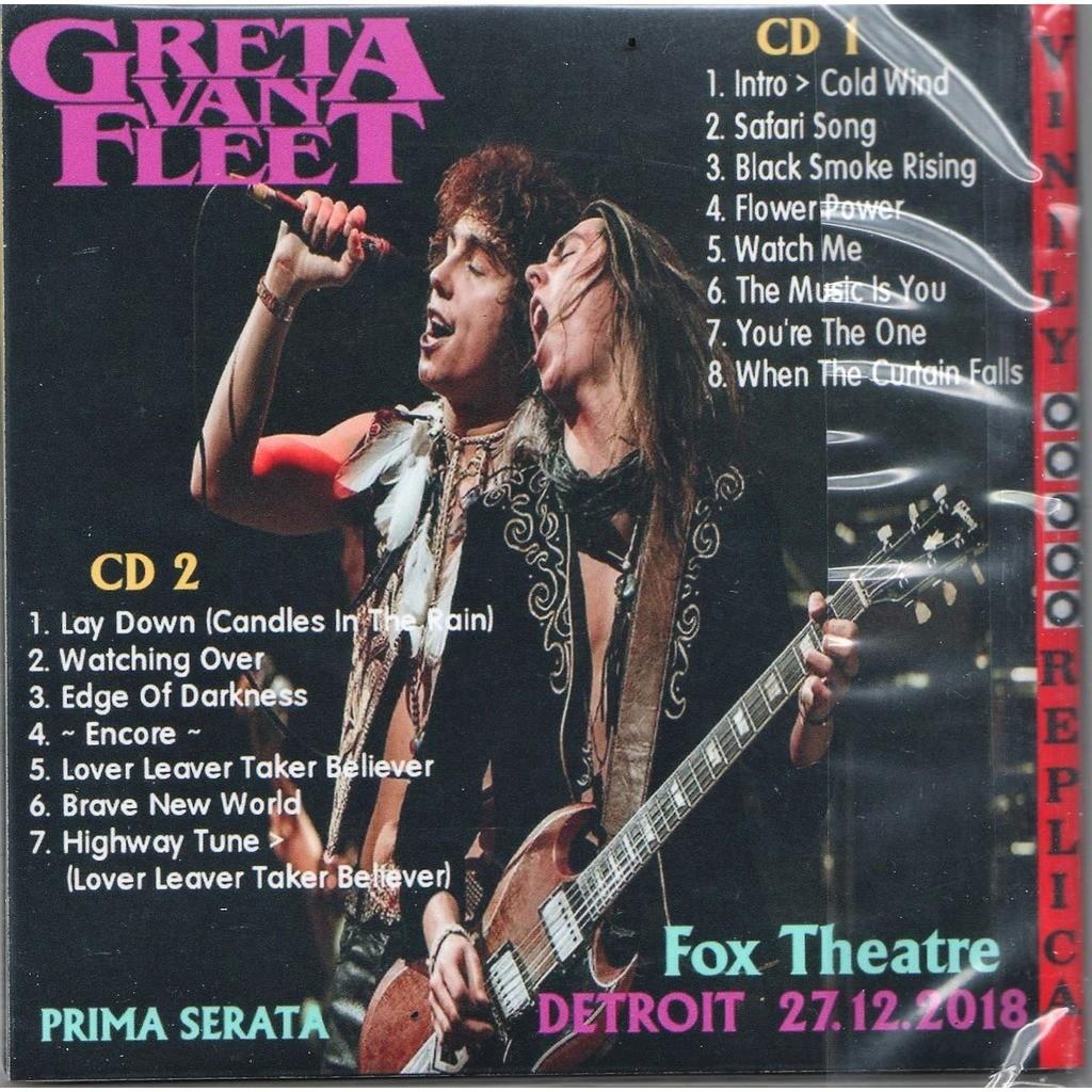 Greta Van Fleet Live At 'Fox Theatre' (Detroit USA 27.12.2018)