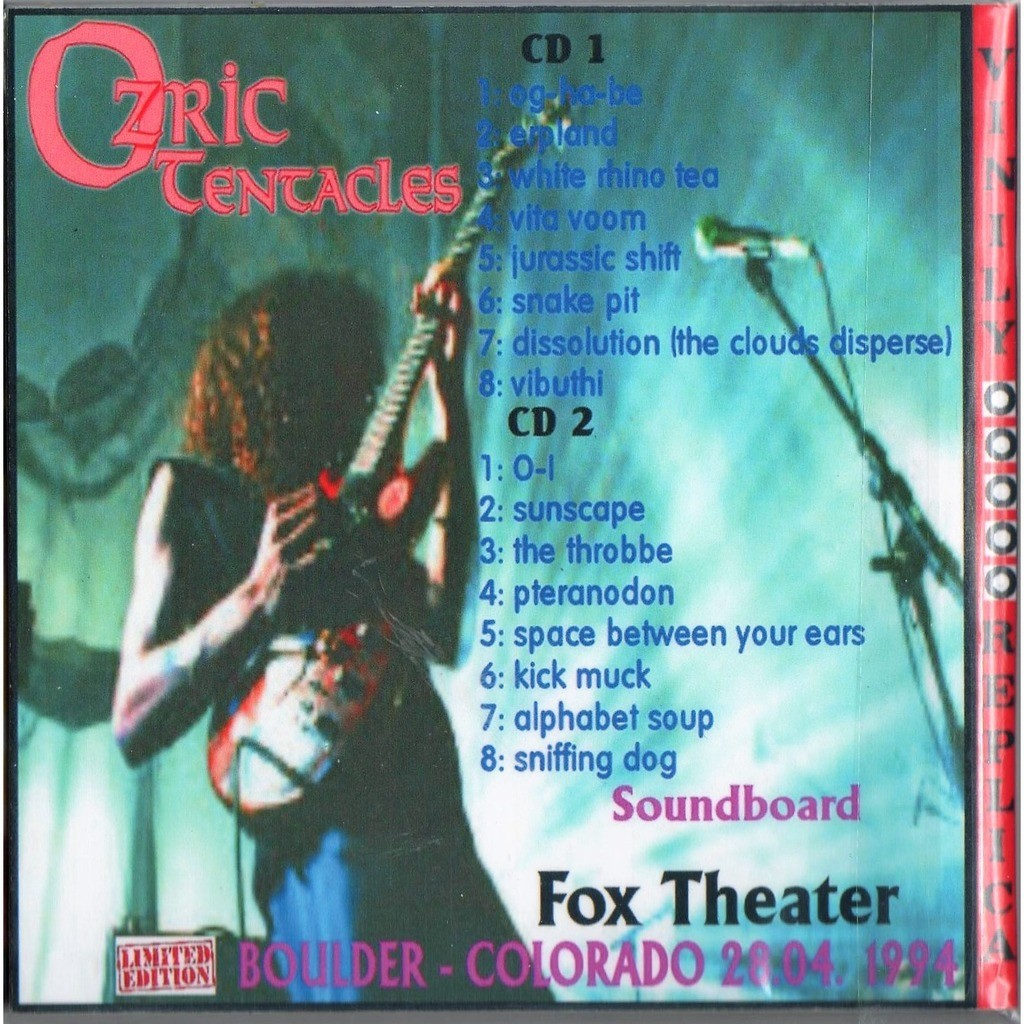 Ozric Tentacles Live At 'Fox Theatre' (Boulder Colorado USA 28.04.1994)