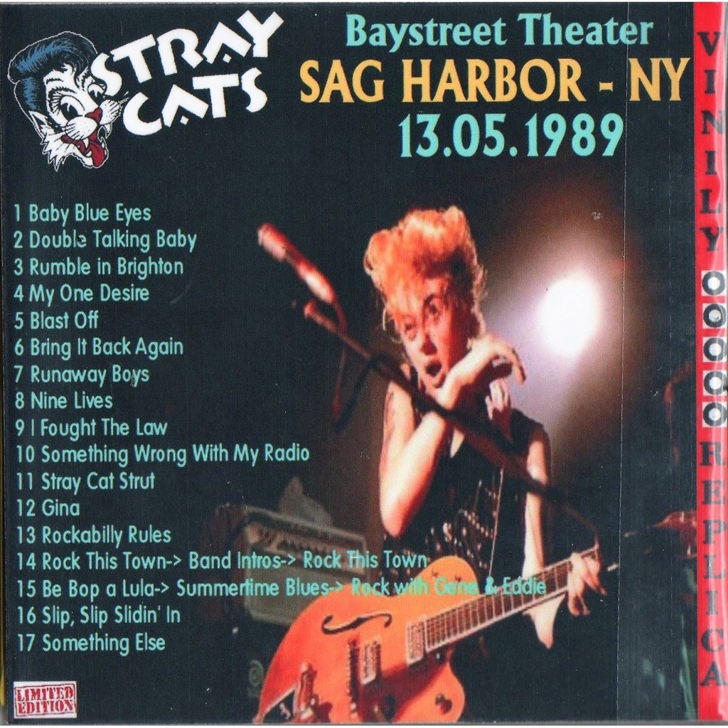 Stray Cats Live At 'Baystreet Theater' (Sag Harbor NY USA 13.05.1989)