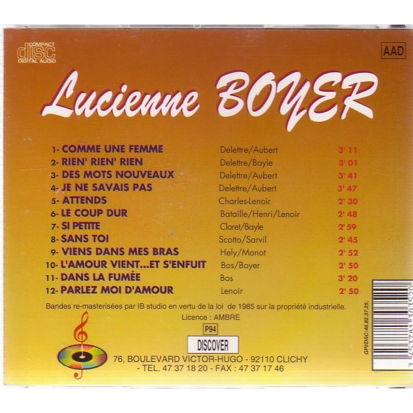 LUCIENNE BOYER VIENS DANS MES BRAS / PARLEZ MOI D'AMOUR......