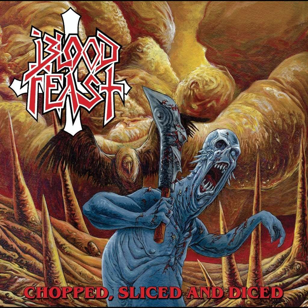 BLOOD FEAST Chopped, Sliced And Diced. Black Vinyl
