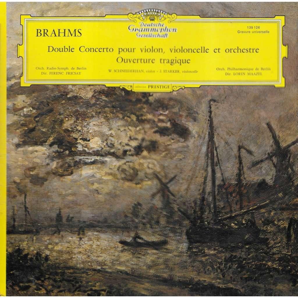 Wolfgang SCHNEIDERHAN, violon / Janos STARKER, vio BRAHMS Double Concerto