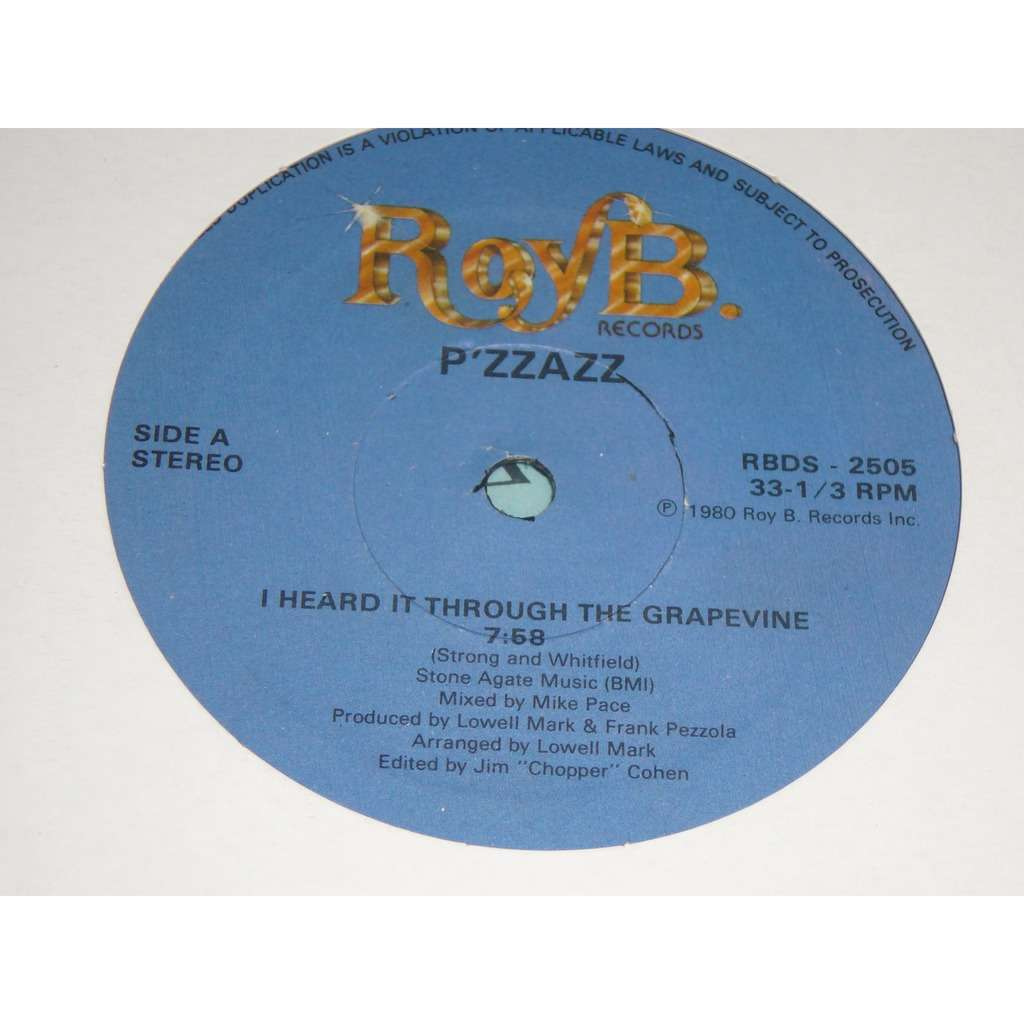 P'ZZAZZ I Heard It Through The Grapevine / You Taught Me To Dance