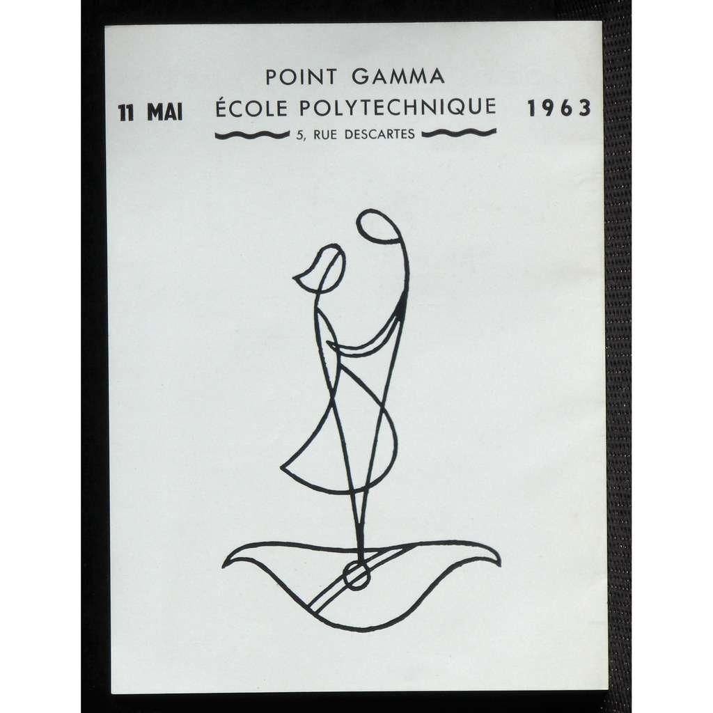Programme Polytechnique Point gamma 11 mai 1963 NM Programme Polytechnique Point gamma 11 mai 1963 NM