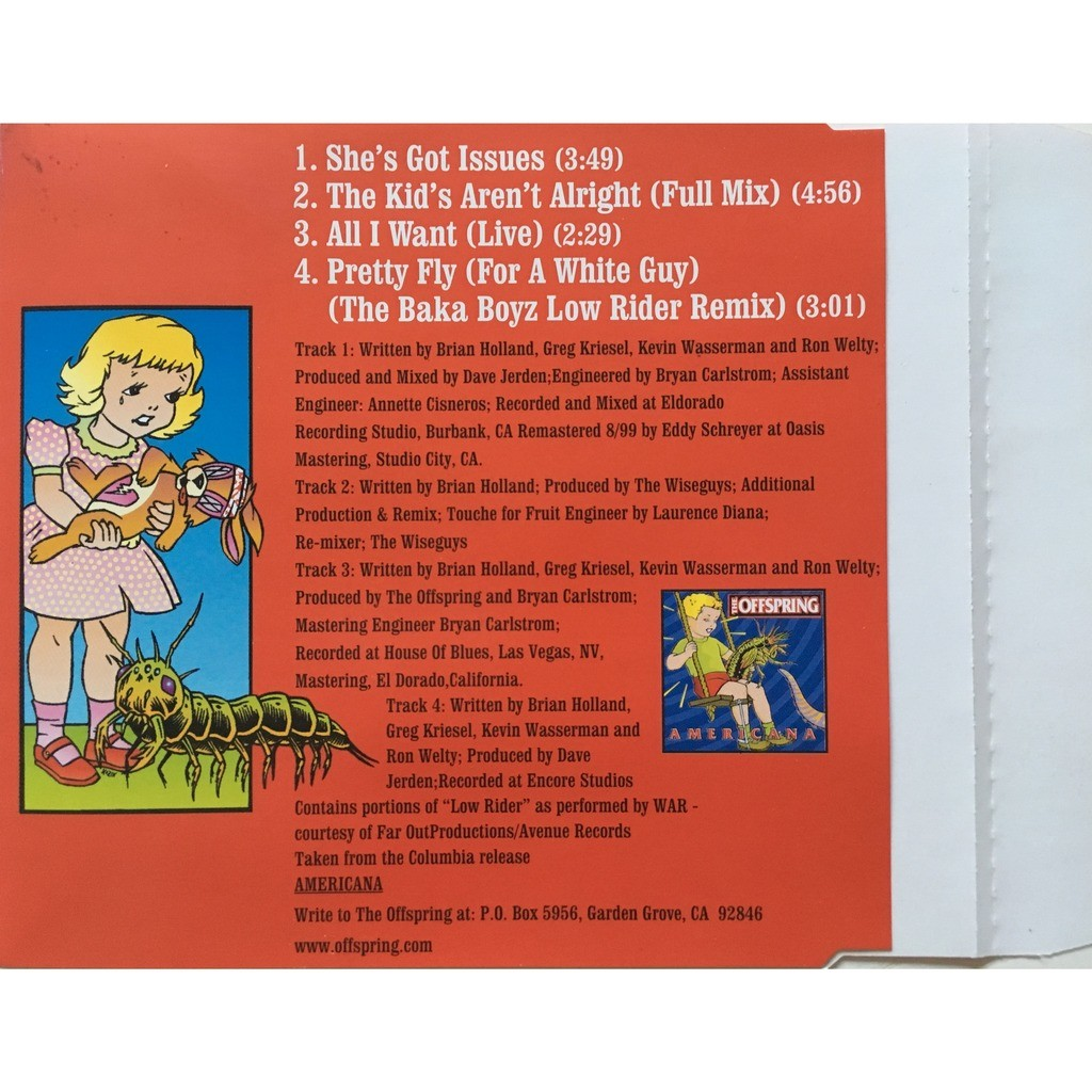 THE OFFSPRING - SHE'S GOT ISSUES (AUS. PRESSING 4 TRK 1 MAXI-CD)