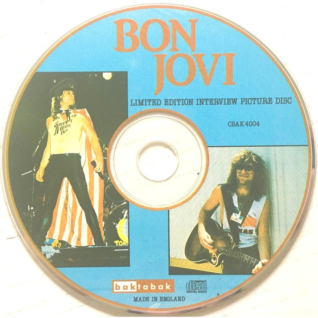 BON JOVI - LIMITED EDITION INTERVIEW PICTURE DISC (U.K. PRESSING LIM/ED. 1 CD PIC/DISC)