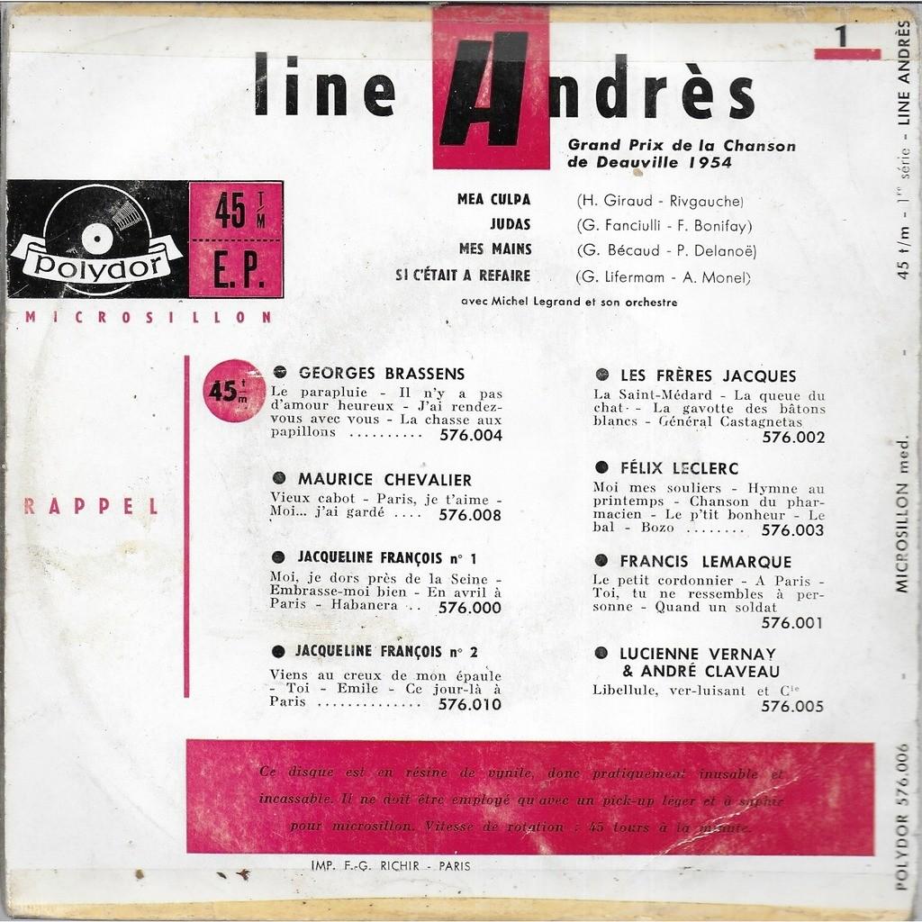 Line ANDRES 1: Mea culpa