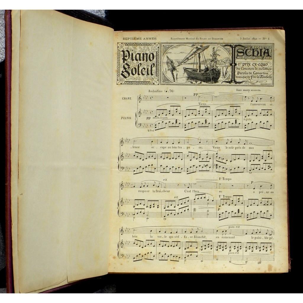 Partition / Score Piano soleil Choudens 1892 VG++ Partition / Score Piano soleil Choudens 1892 VG++