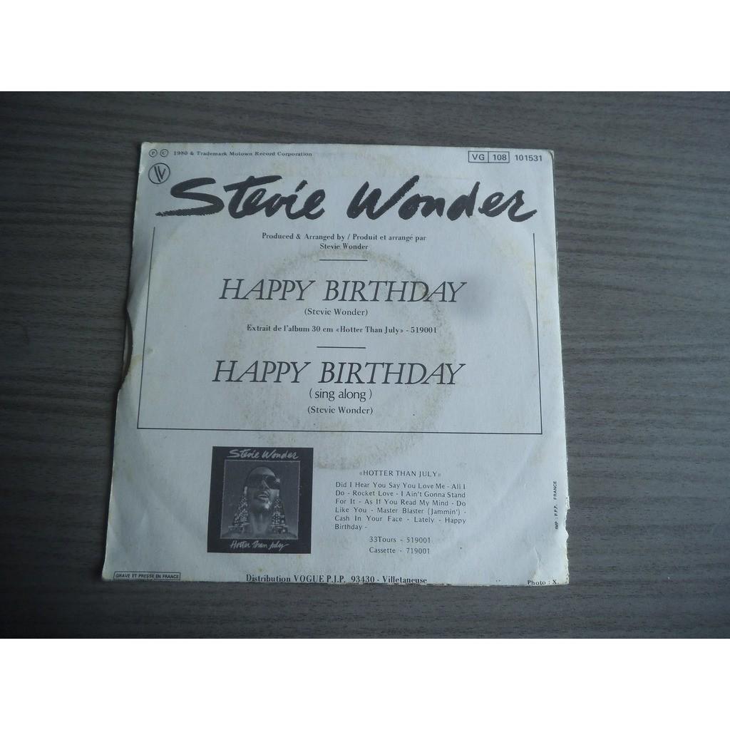 Stevie wonder happy birthday part 1 / happy birthday part 2