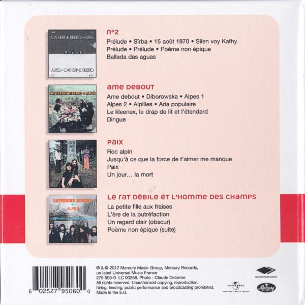catherine ribeiro + alpes 4 Albums Originaux : N° 2 / Ame debout / Paix / Le rat debile et l'homme des champs