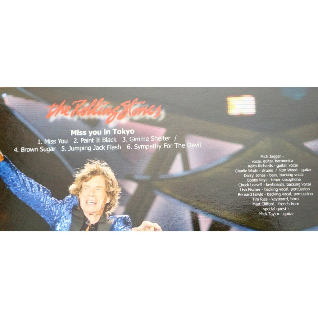 The Rolling Stones Miss You In Tokyo / special limited edition picture disc for Rolling Stones Fan Club Canada