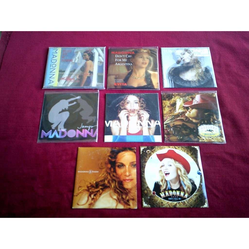 madonna COLLECTION DE 8 CD SINGLE