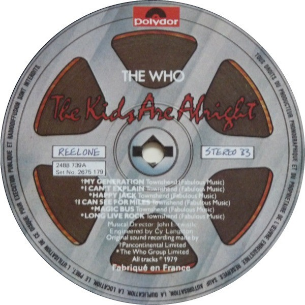 the who THE KIDS ARE ALRIGHT