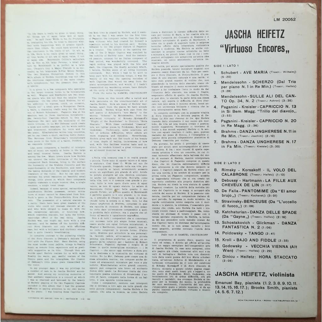 jascha heifetz virtuoso encores