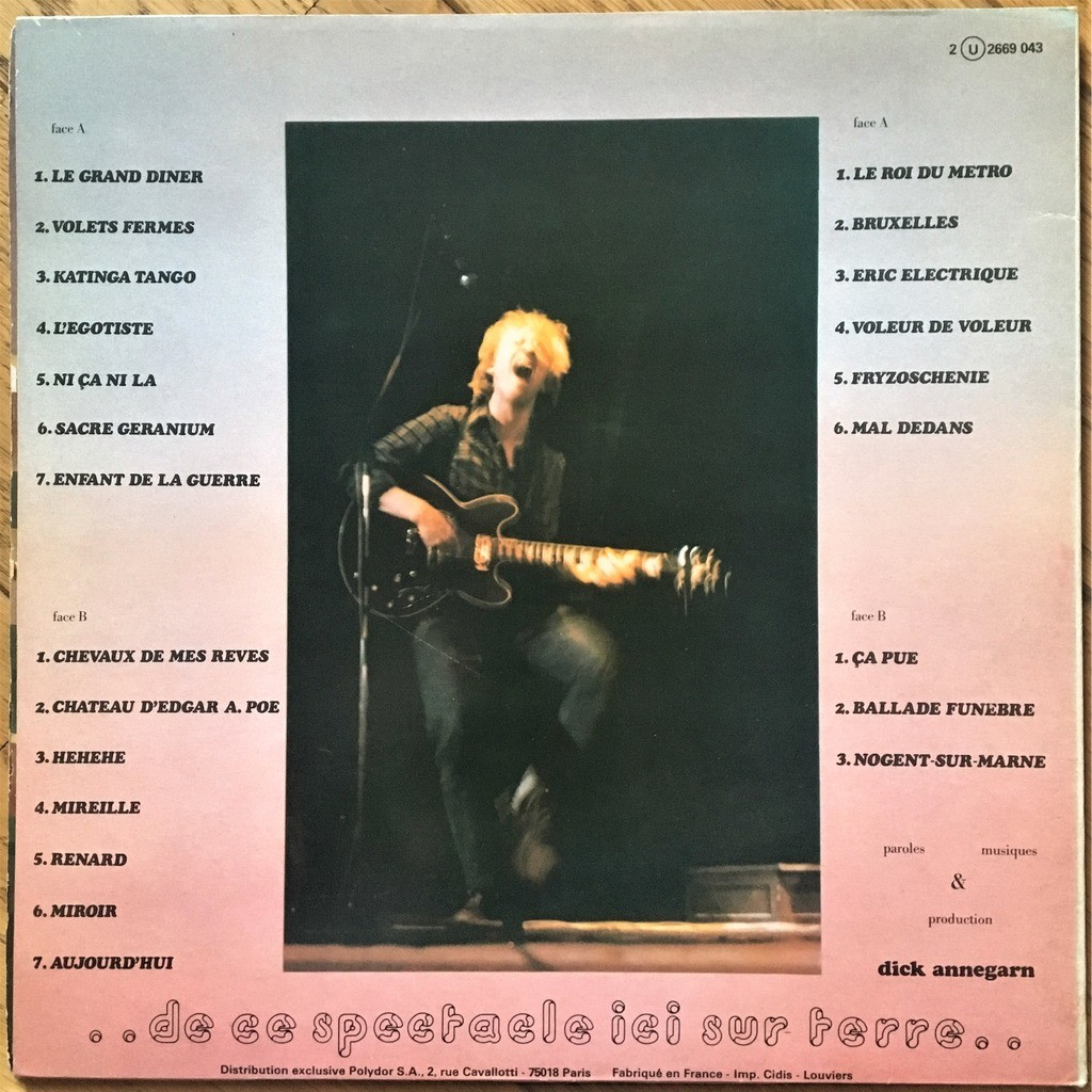 Dick Annegarn Live ..De Ce Spectacle Ici Sur Terre..