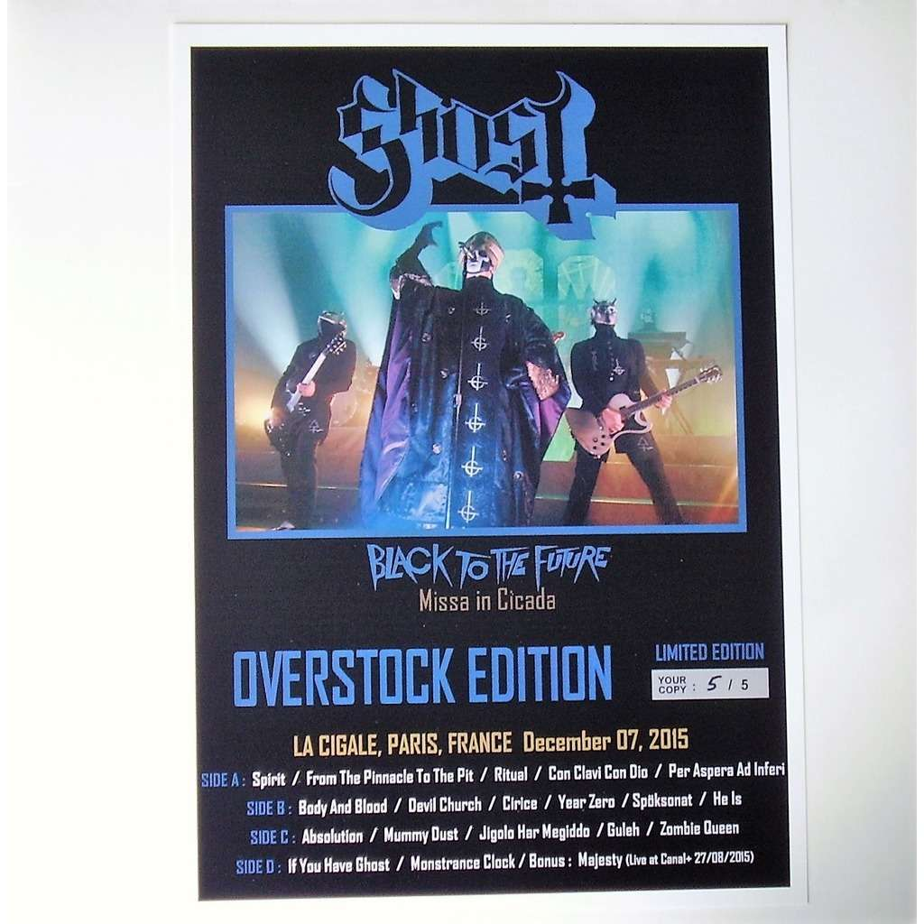 Ghost Black to the Future - Missa In Cicada (2xlp) Ltd Edit Overstock Edition Only 5 Made -E.U