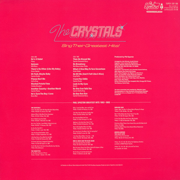 The Crystals Phil Spector Wall of sound vol.3