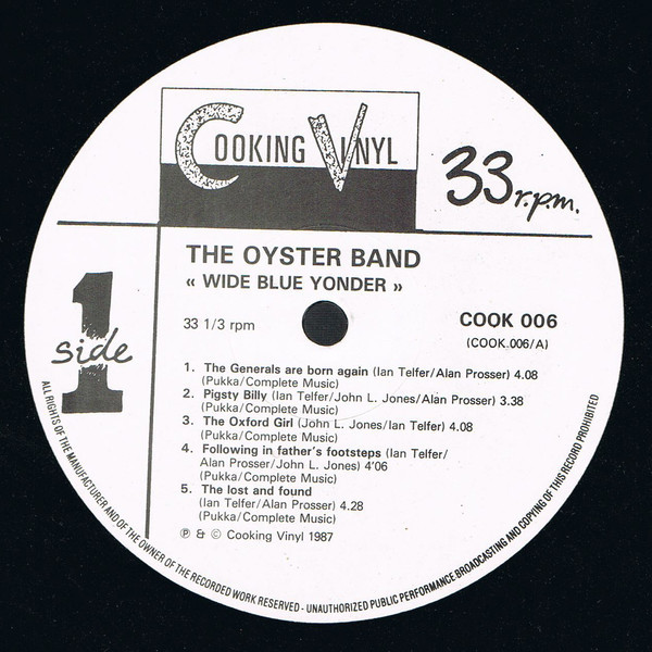 The Oyster Band Wide Blue Yonder
