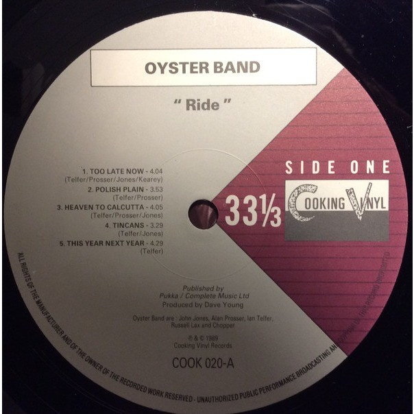 OYSTER BAND ride
