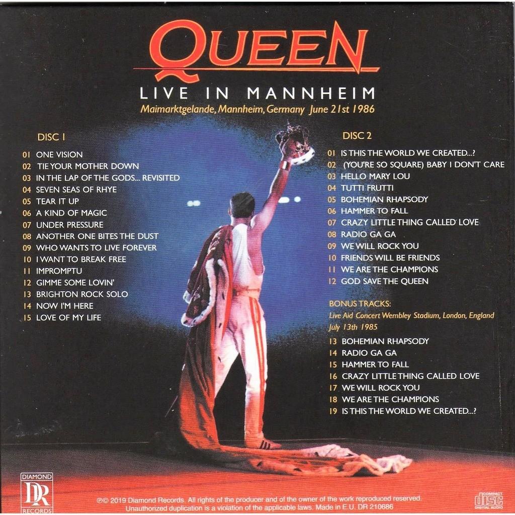 The Queen Live in Mannheim (Maimarktgelande Mannheim DE 21.06.1986 etc.)