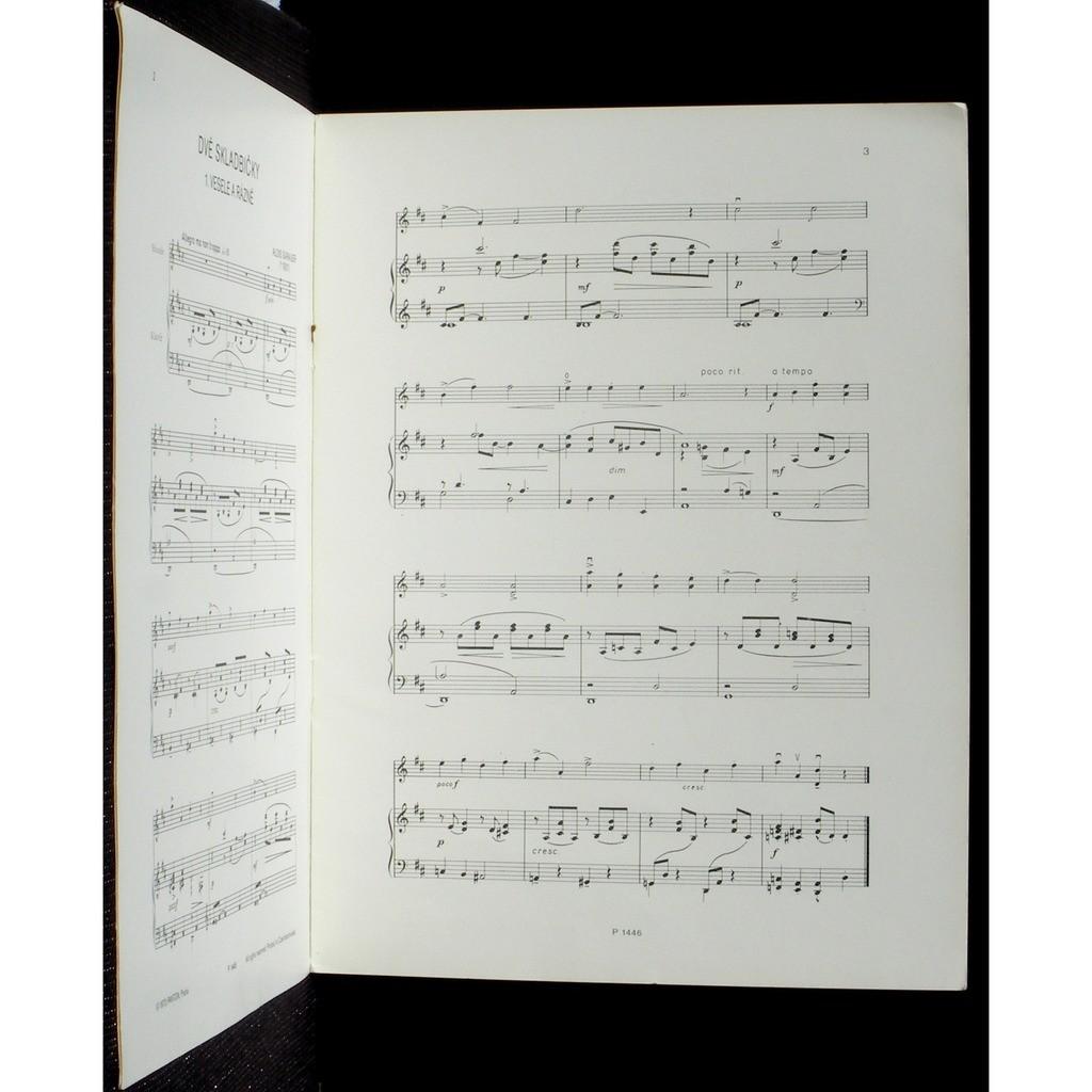 Partition / Score Alois Sarauer Dve skladbicky Partition / Score Alois Sarauer Dve skladbicky Panton 1973 EX