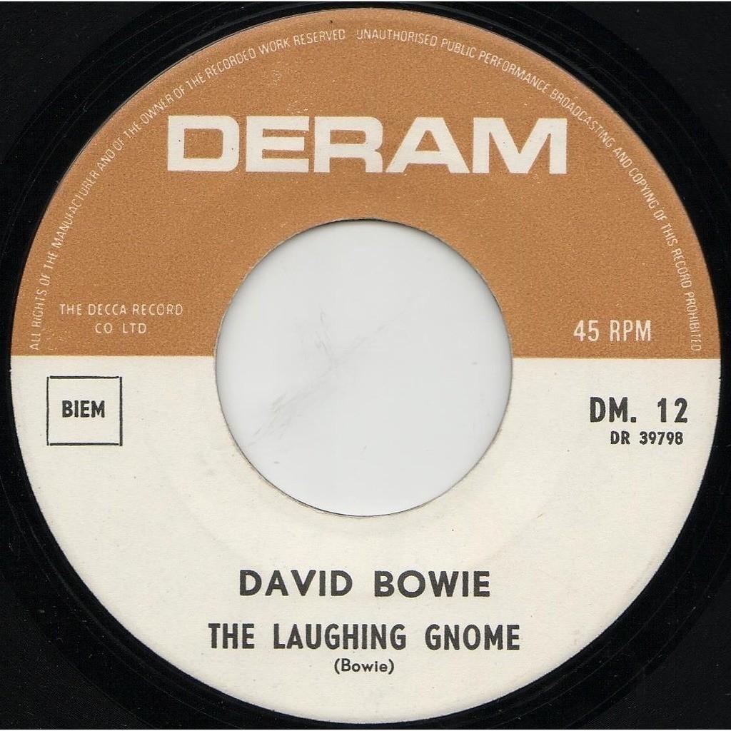 David Bowie The Laughing Gnome (Belgium 1967 original 2-trk 7single on Deram lbl unique ps)
