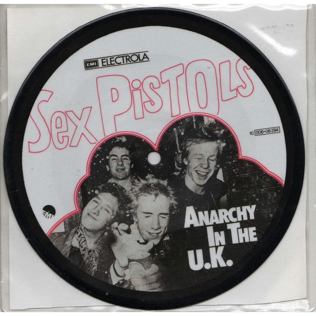Sex Pistols Anarchy In The UK (Euro Ltd 250 No'd copies re 2-trk 7single Picture Disc & insert!)