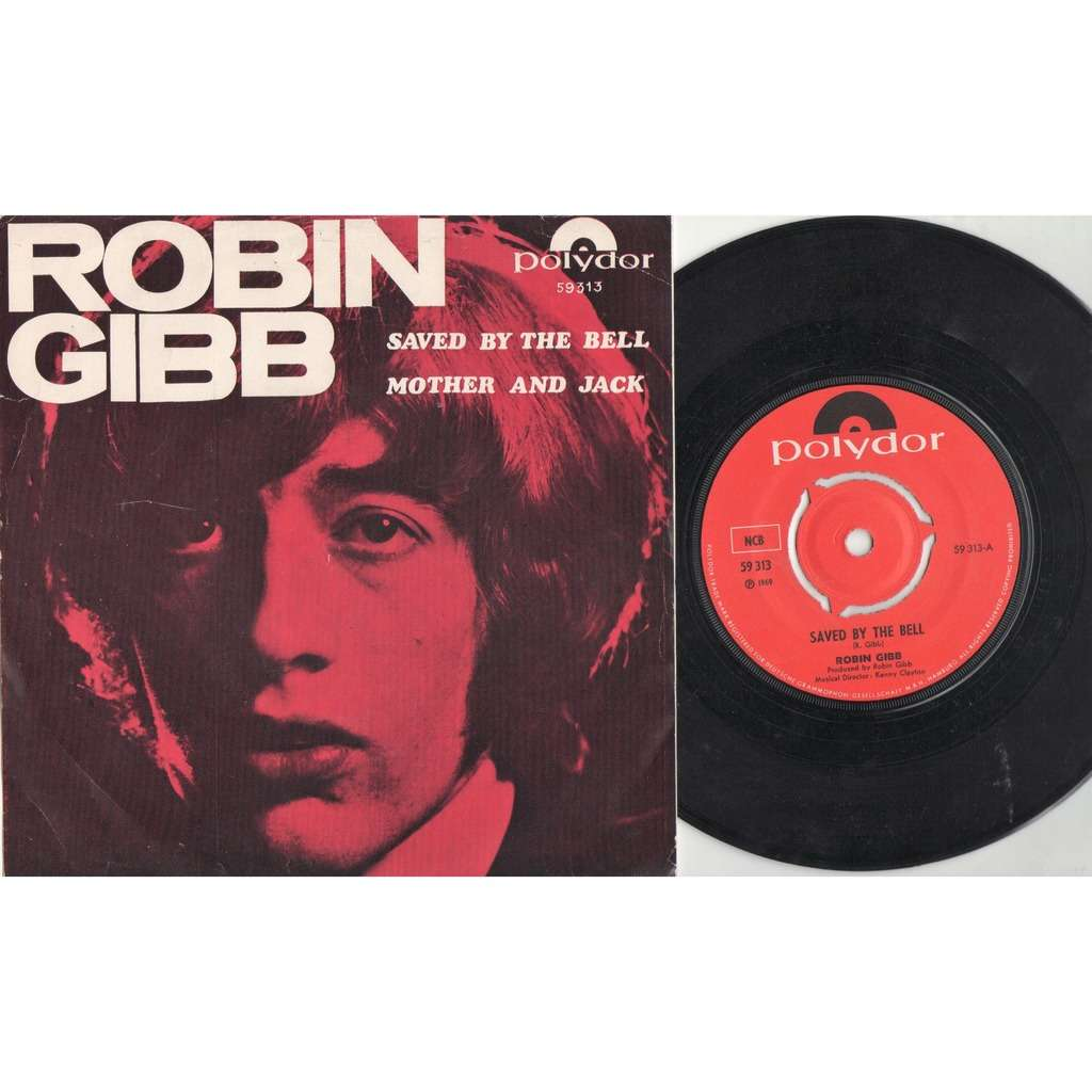 Bee Gees / Robin Gibb Saved By The Bell (Denmark 1969 original 2-trk 7single unique ps)