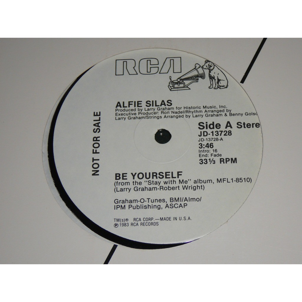 ALFIE SILAS BE YOURSELF 1983 USA PROMO COPY