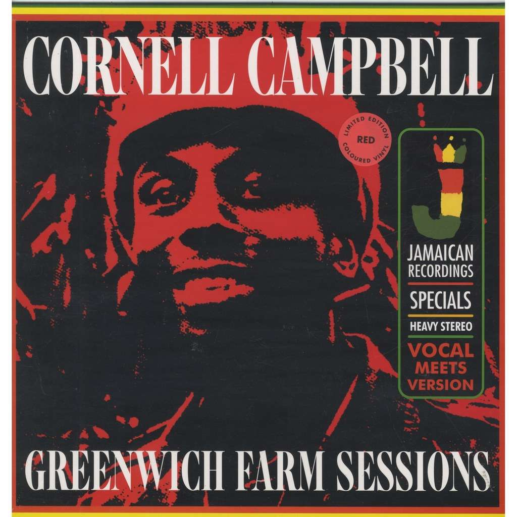 cornell campbell greenwich farm sessions Ltd RSD 2019 Red Vinyl