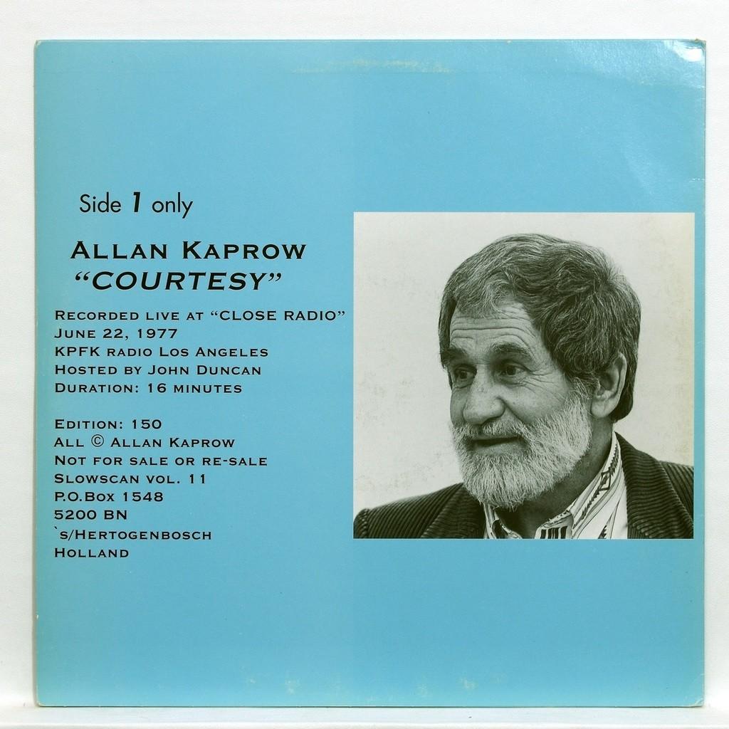 Allan Kaprow Allan Kaprow : Courtesy