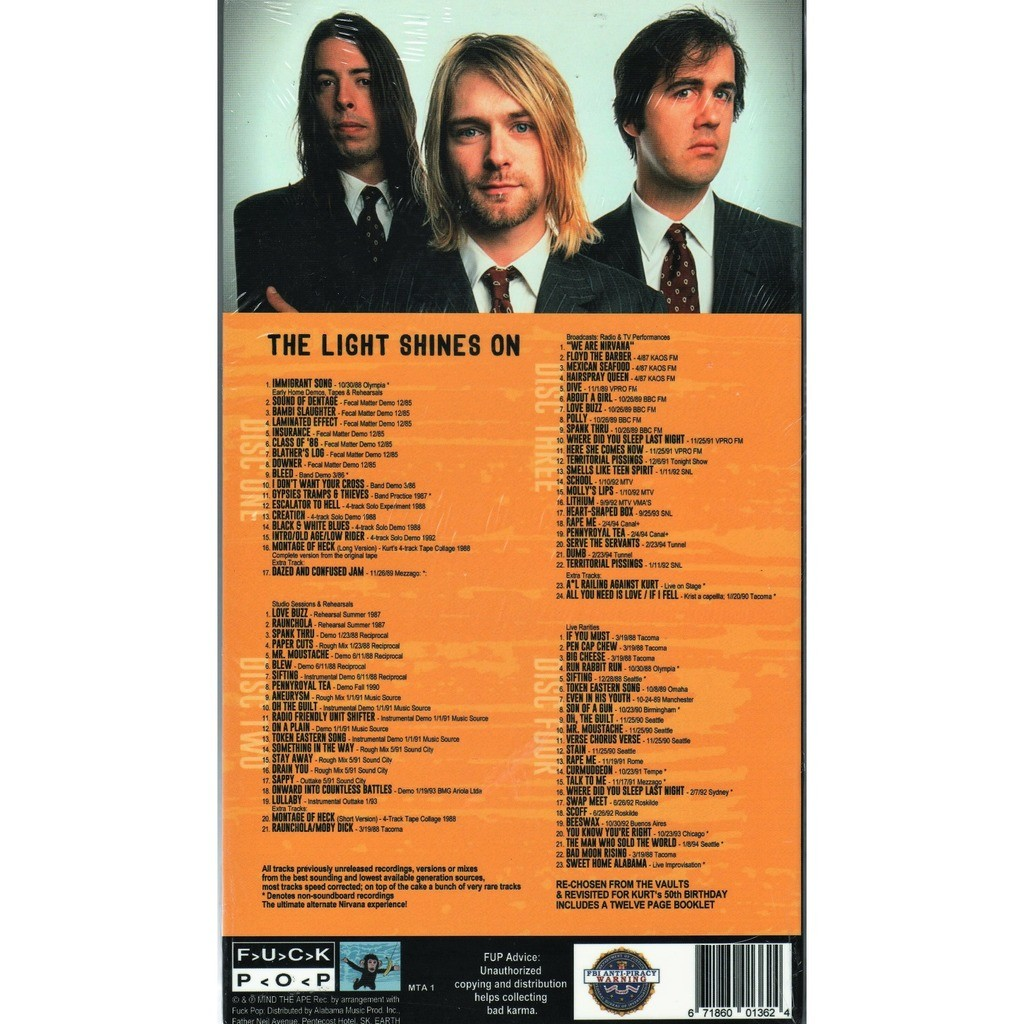 Nirvana The Lights Shines On (Previously Unreleased Recordings) (Ltd 300 no'd copies 4CD box + book!)