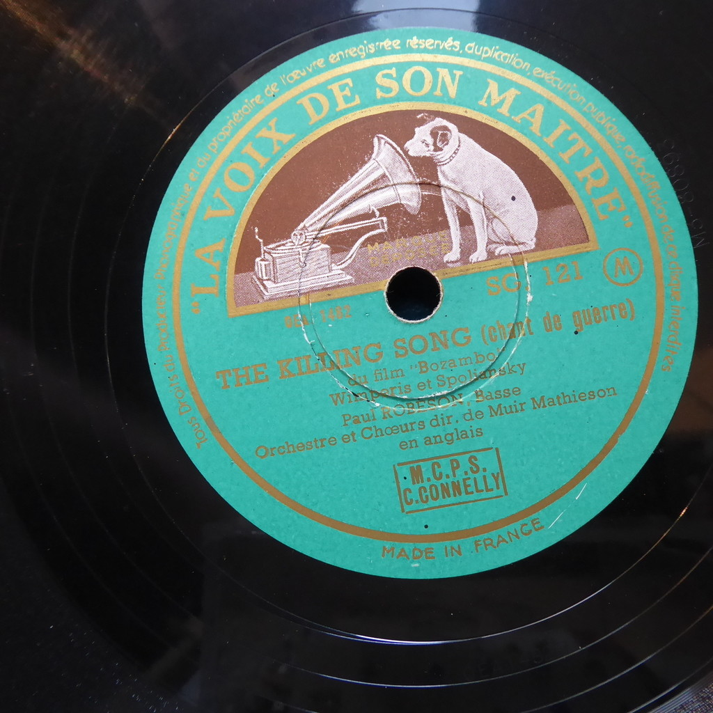 paul robeson The killing song + Congo lullaby