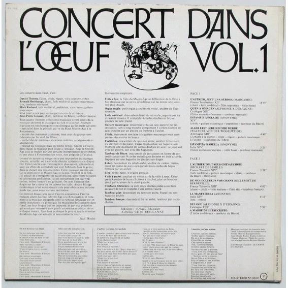 Concert Dans L'Oeuf Vol. 1 - Chants Et Danses Du Haut Moyen-Âge