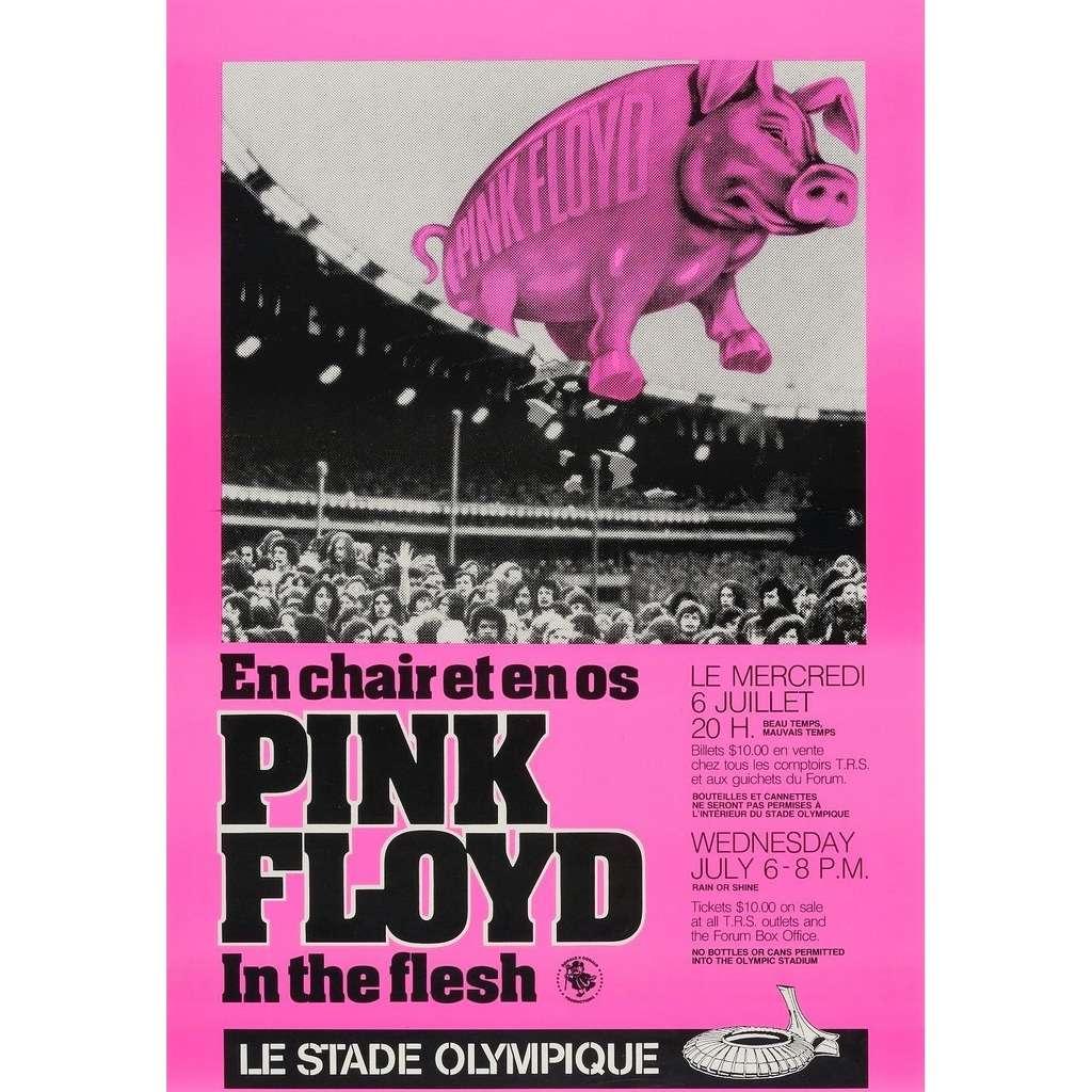 Pink Floyd Montreal Le Stade Olympique 06.07.1977 (Canada 1977 original promo concert poster flyer!)