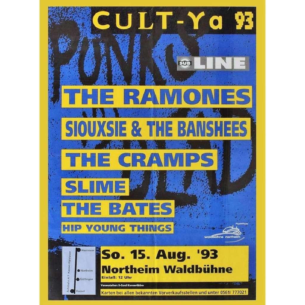 Ramones / Siouxsie & The Banshees / Cramps Northeim Waldbuhne 15.08.1993 (German 1993 original promo concert flyer!)