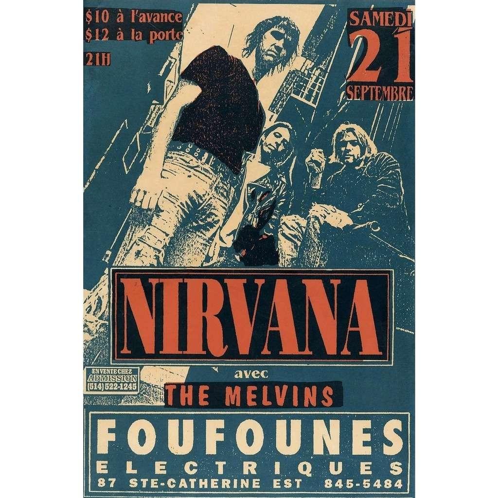 Nirvana / Melvins Foufounes Electrique Montreal 21.09.1991 (Canada 1991 original promo concert flyer!)